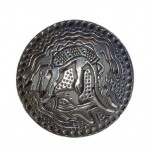 Pewter Potpourri Lid - Crocodile/Fish