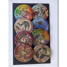 Set of 8 Large Resin Lids/Inserts