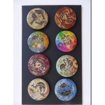 Set of 8 Small Resin Lids/Inserts